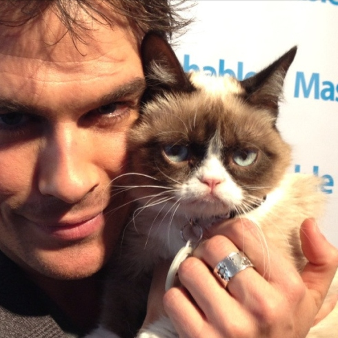Ian-Somerhalder-Meets-Grumpy-Cat